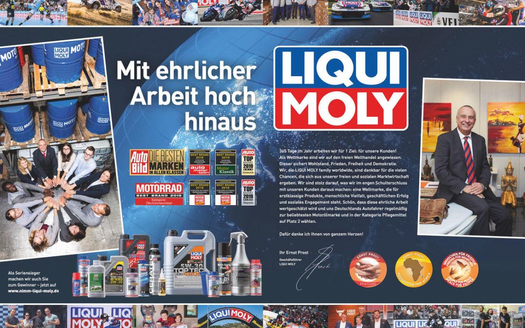 La meilleure marque d'huile s'appelle LIQUI MOLY